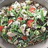 Гречневая каша с овощами и вешенками